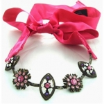 Her Royal Chewels Fuchsia Collar