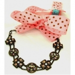 Her Royal Chewels Pink Poka Dot Collar