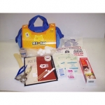 Me Ow First Aid Kit For Cats In Blue Canvas Bag