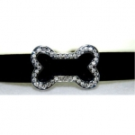Rhinestone Dog Bone Collar Charm