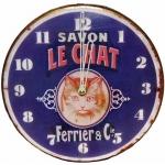 Savon Le Chat Clock